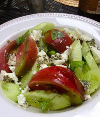 Tomato, Cucumber and Feta Salad, Seasonal Chef, Maria Reina