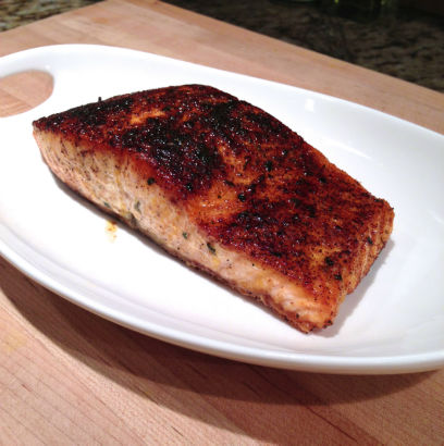Roasted Salmon for fish taco: Seasonal Chef Maria Reina