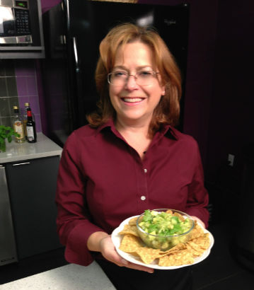 Seasonal Chef Maria Reina with Tomatillo Avocado Salsa