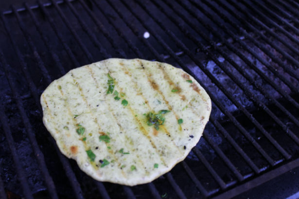 Mint Naan on the Grill