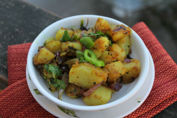 Bengali Spiced Potatoes with Cuban Peppers