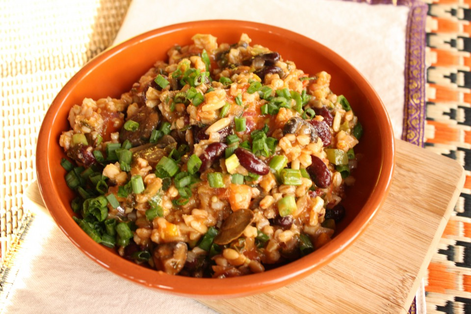 Farro and Mixed Vegetable Jambalaya