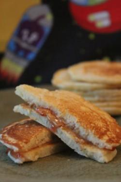 PB & J Pancake Sandwiches