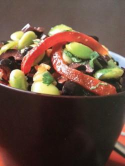 LIma bean Salsa close up