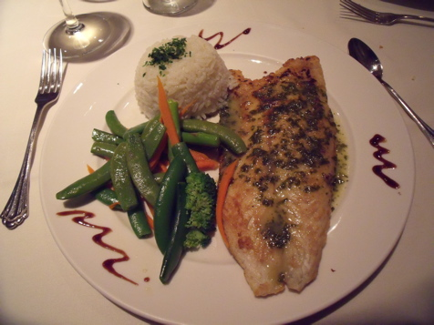 Barramundi Filet with white wine glaze