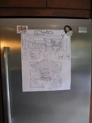 Madison Kitchen fridge