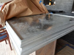 MK pewter bar top