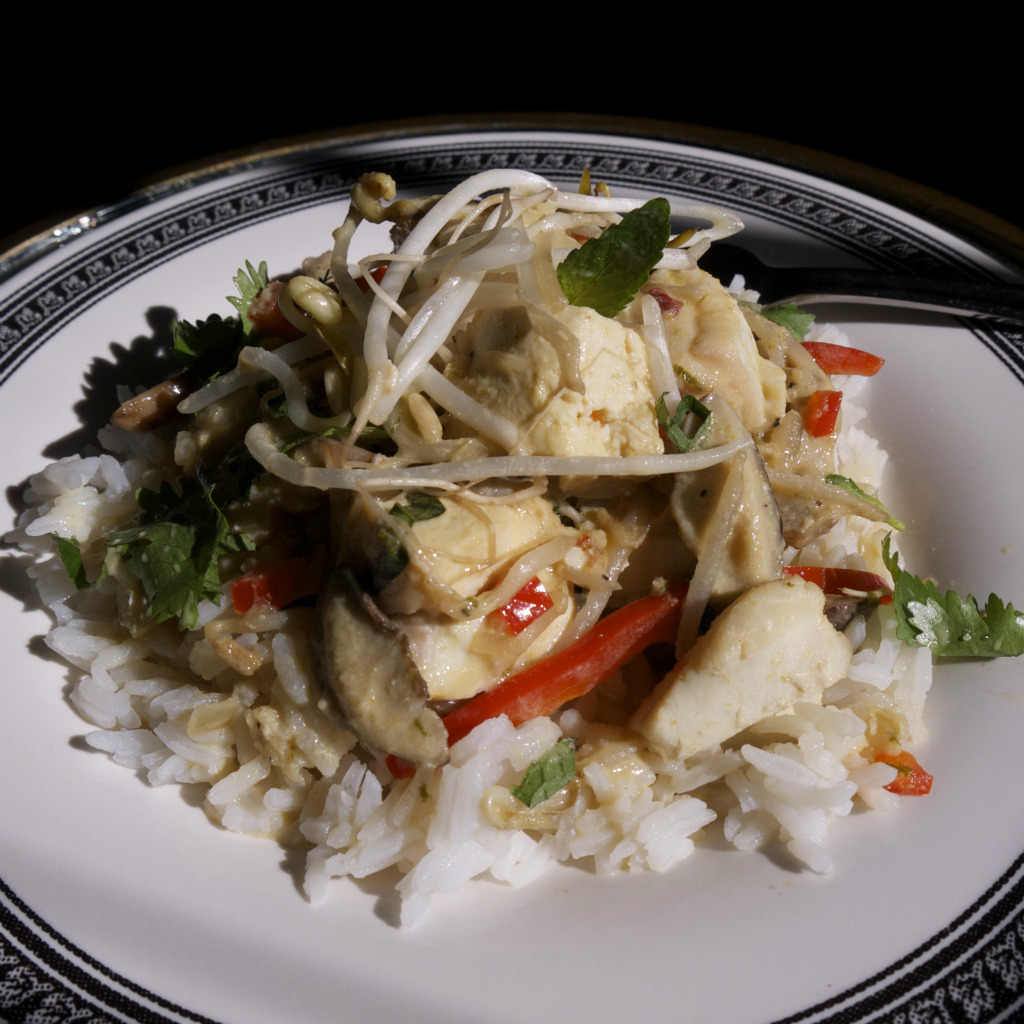 Thai Coconut Green Curry Halibut maria reina