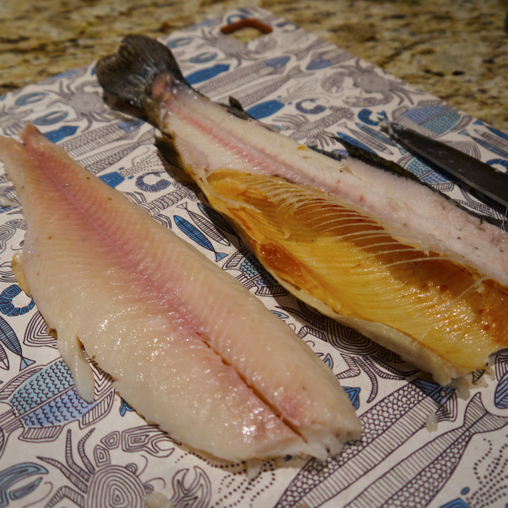 Smoked trout from Mt. Kisco Smokehouse.