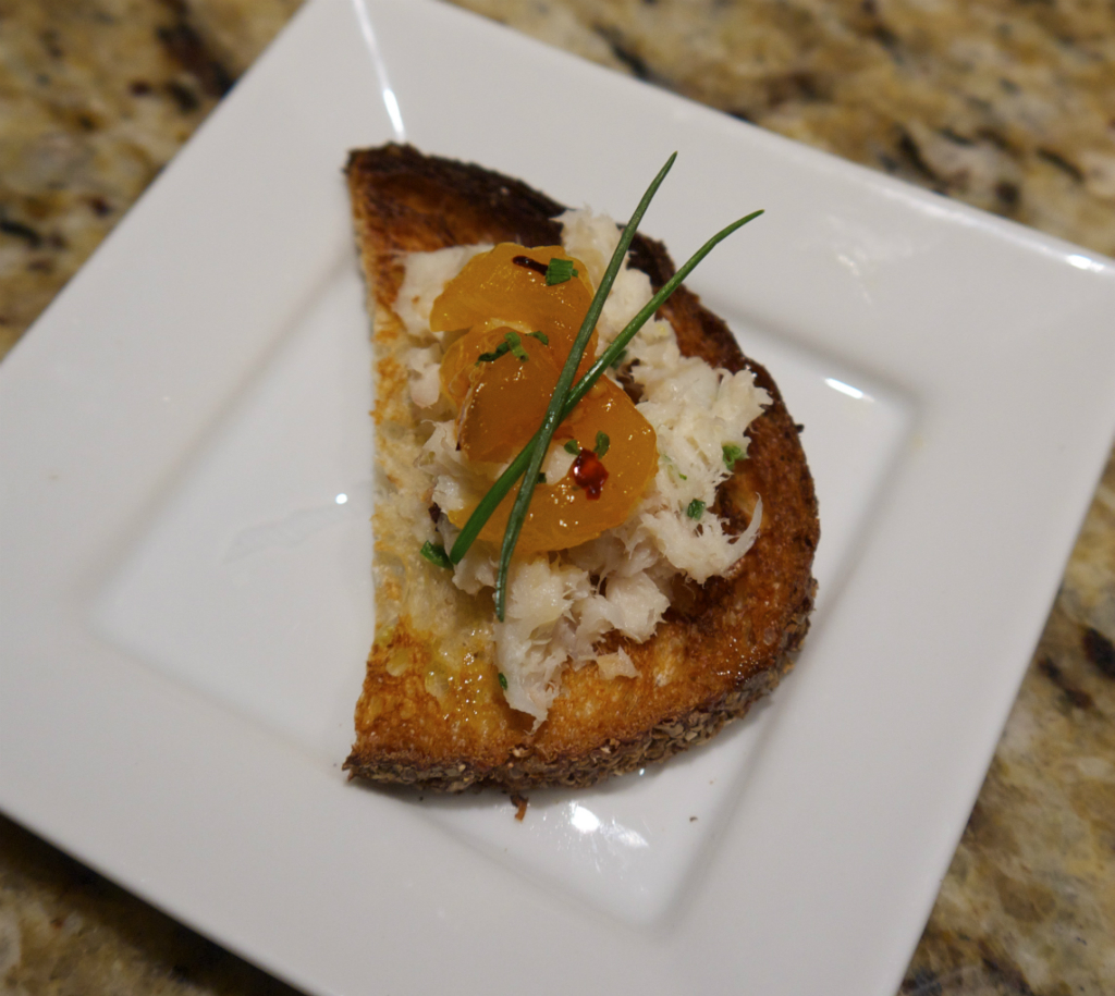 Maria Reina's Smoked Trout Rillette with Apricot Mostarda.
