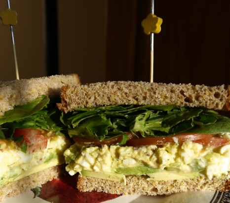 Egg Salad Sandwich with Dill and Pickled Celery
