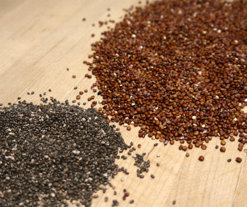 Chia Seeds and Red Quinoa