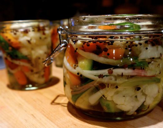 Pickled Ramps and Vegetables by Maria Reina