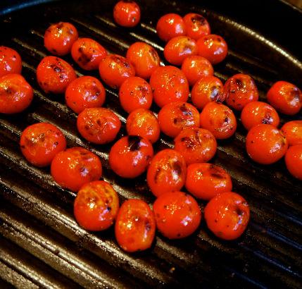 Charred tomatoes