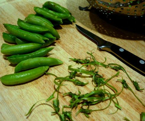 Peeling Snap Peas