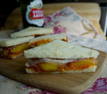 Caramelized Peach Tramezzino