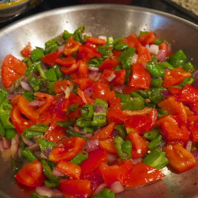 Sweet Frying Peppers and Tomato Sauce