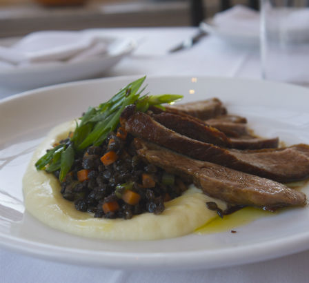 Hudson Valley Duck with Parsnip Puree and Black Lentils