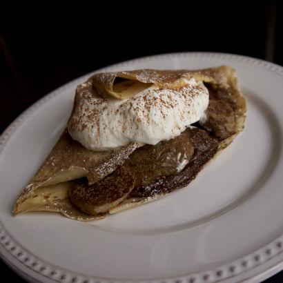 Caramelized Banana, Nutella Crepe, Seasonal Chef Maria Reina