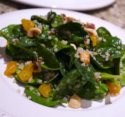 Spinach, Quinoa and Apricot Salad, Seasonal Chef, Maria Reina