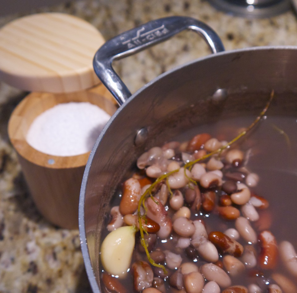 add salt to beans