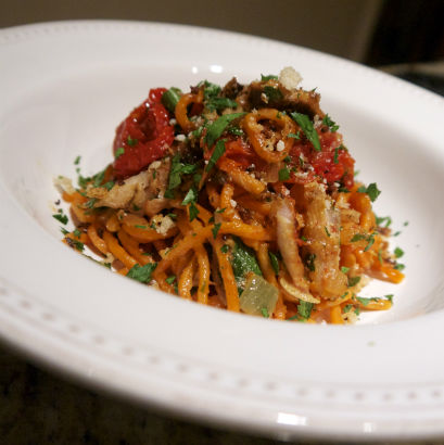 Sardines with Spicy Tomato Pasta, Maria Reina, Seasonal Chef Recipe