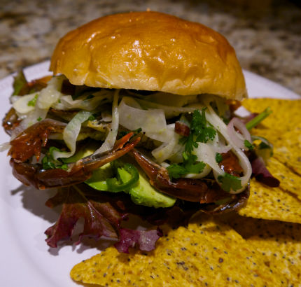 Grilled Soft Shell Crab with Spicy Fennel Slaw
