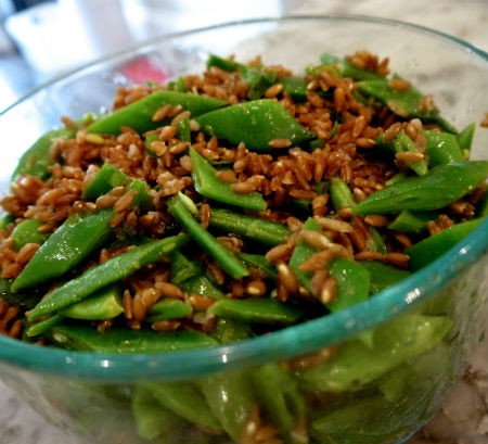 Pole bean and farro