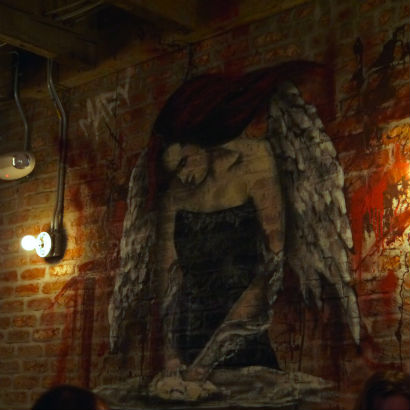 The Parlor, Angel mural