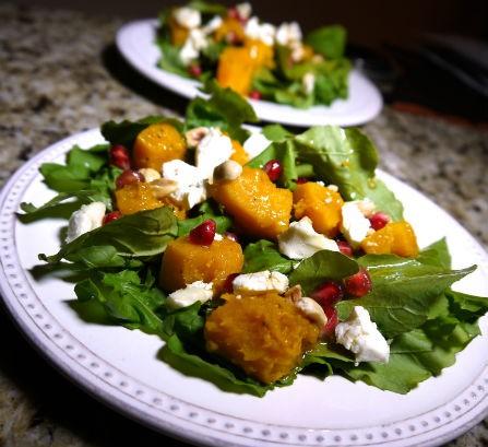 Red Kuri Squash Salad