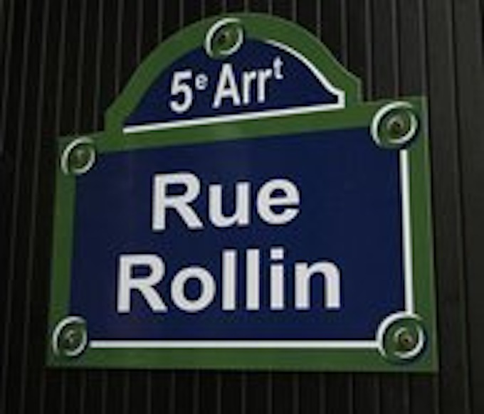Rue Rollin Sign