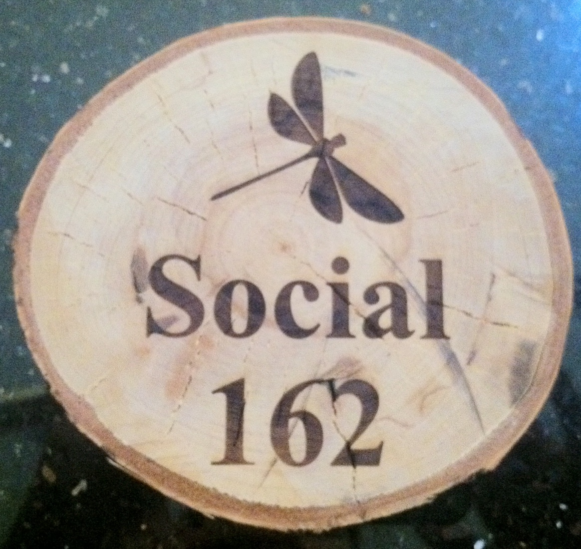 A coaster depicts the new look of what was formerly Café Barcel in Nyack.