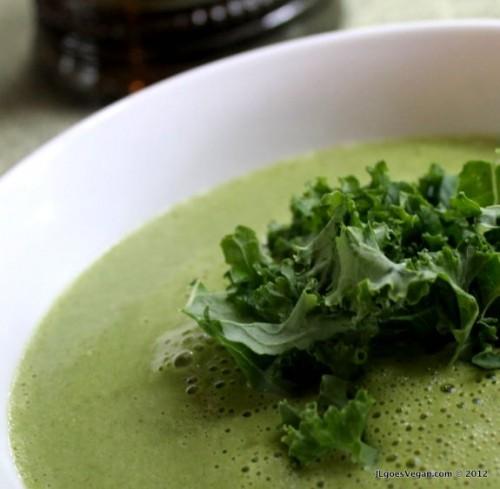 JL Fields, Creamy Kale Miso Soup 2, JL goes Vegan,
