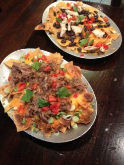 Two types of nachos
