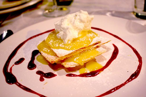 Lemon mille-feuille with crème Chantilly