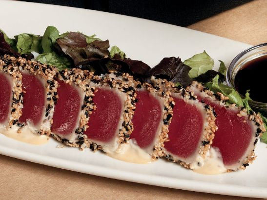 Ahi tuna sashimi at Bonefish Grill. Bonefish Grill ridge hill restaurant week