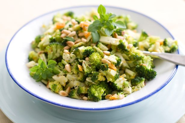 Citrus-Pine Nut Broccoli Slaw