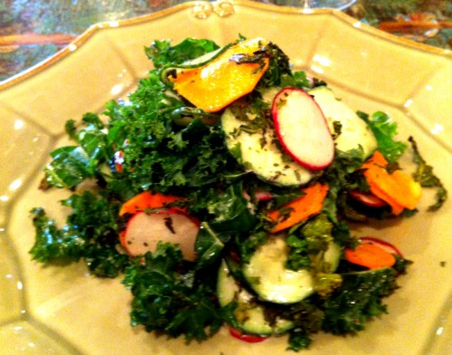 Cafe of Love Kale and Crunchy Vegetable Salad