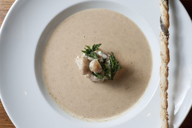 Chestnut, Celery Root and Apple Soup