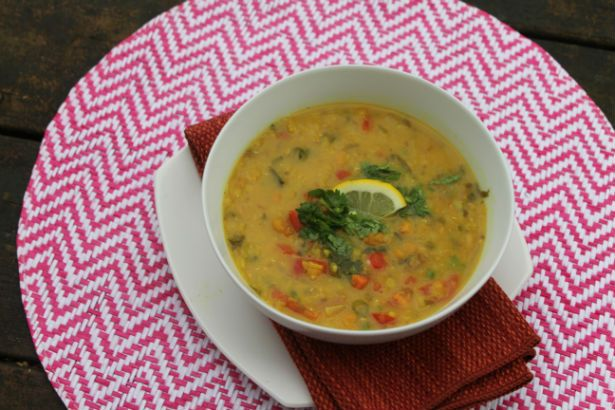 chickpea and red lentil soup