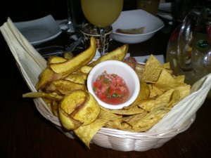 Basket of Chips for Guacamole