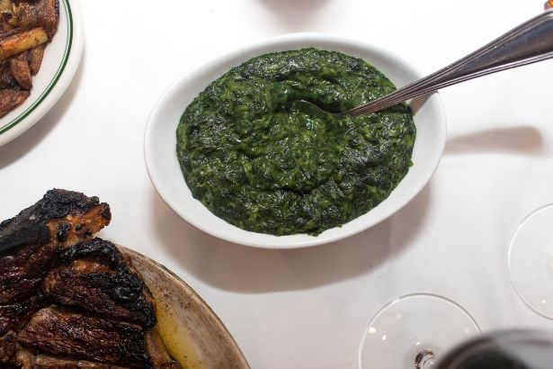 cream-less creamed spinach recipe
