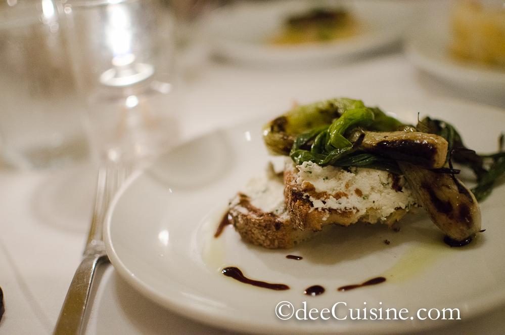 Coach Farm Fettunta with Grilled Spring Onions