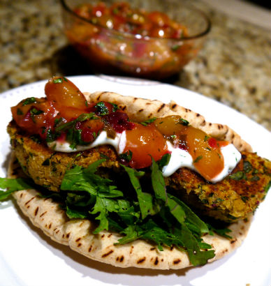 falafel cherry salsa