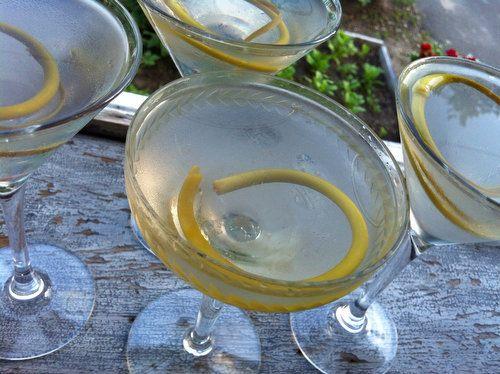 garlic scape martini