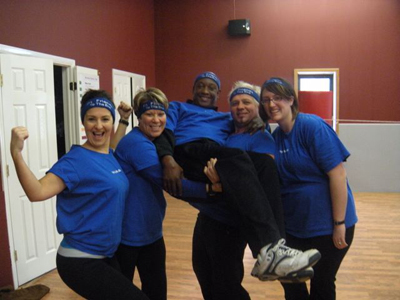 The Fit Friends (Maria, Marjory, Daout, Basil, and Me) @ Bodyquest in Blauvelt, NY