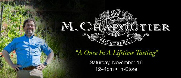 michel chapoutier at savona restaurant and zachys wine in scarsdale
