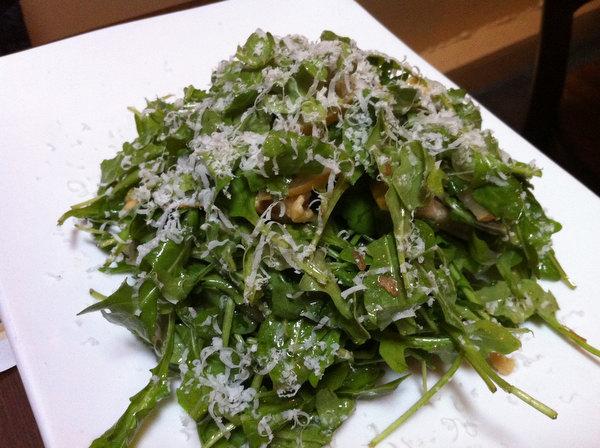 Arugula salad at Coals in Port Chester