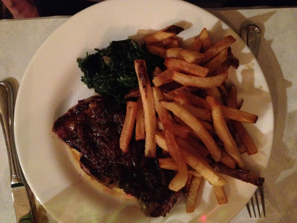Steak frites at Tagine in Croton on Hudson