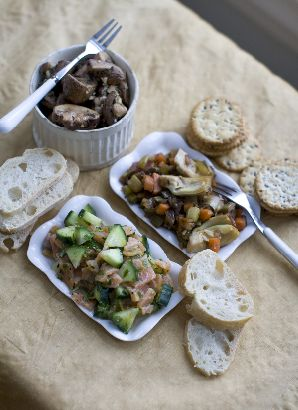 Roasted Cauliflower Tapenade with Romano and Almonds